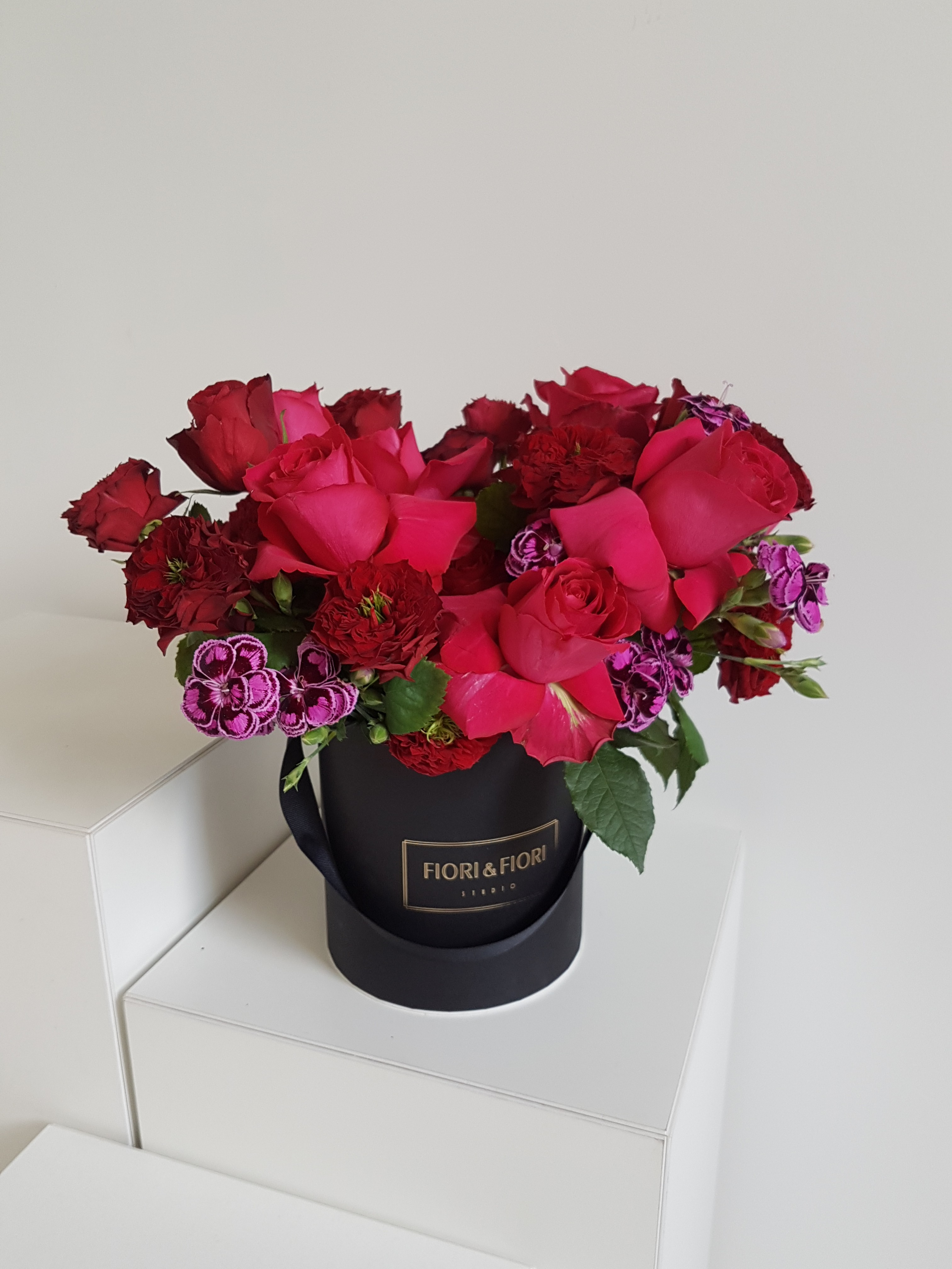 Bright colour flower mix in a box