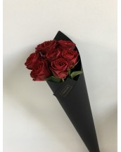 Roses in a stylish throat
